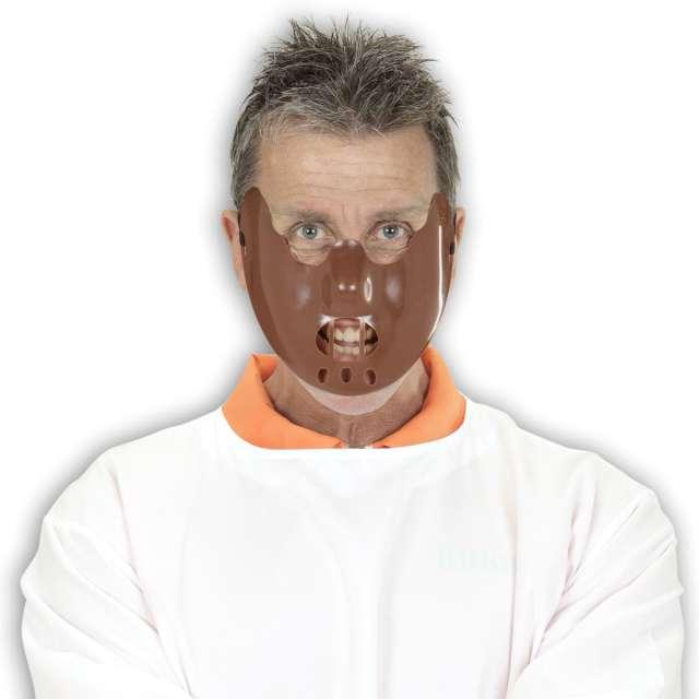 Maska Hannibal Lecter brązowa Widmann