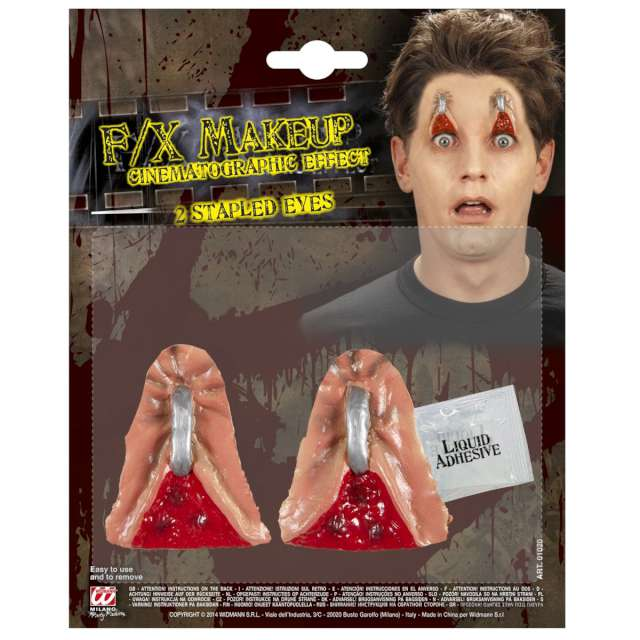 _xx_Pk 12 sets of 2 STAPLED EYES in professional quality with glue