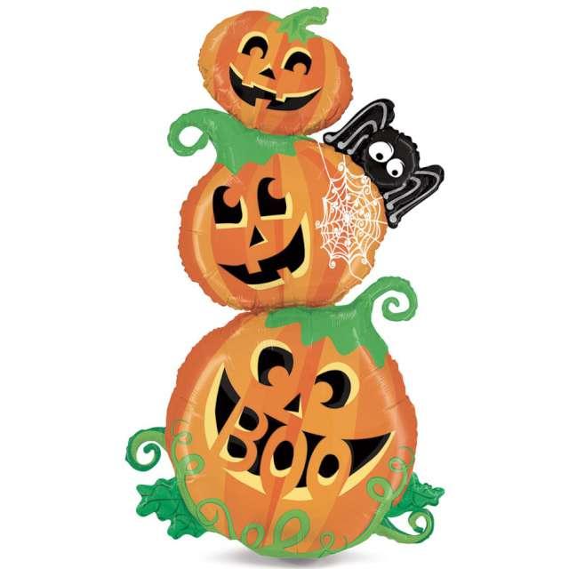 """Balon foliowy """"Trzy dynie"""", pomarańczowy, Carnival Toys, 56"""", SHP"""