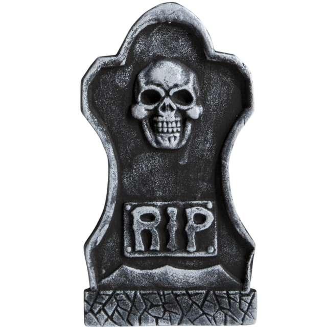 Dekoracja styropianowa Nagrobek RIP i czaszka Carnival 40 cm