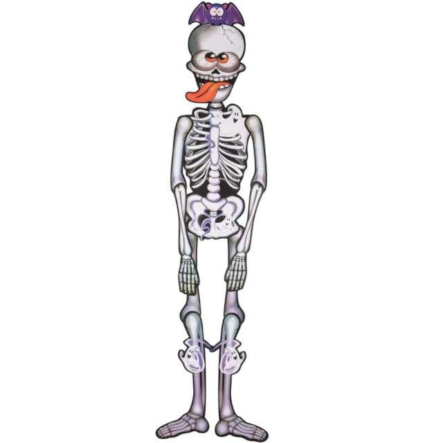 Dekoracja Szalony Szkielet biały Carnival Toys 150 cm