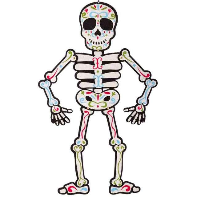 """Dekoracja """"Szkielet Los Muertos"""", biały, Carnival Toys, 65 cm"""