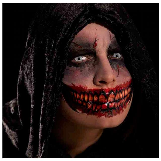 Make-up party Tatuaż  zęby - naklejka  czerwony Carnival Toys