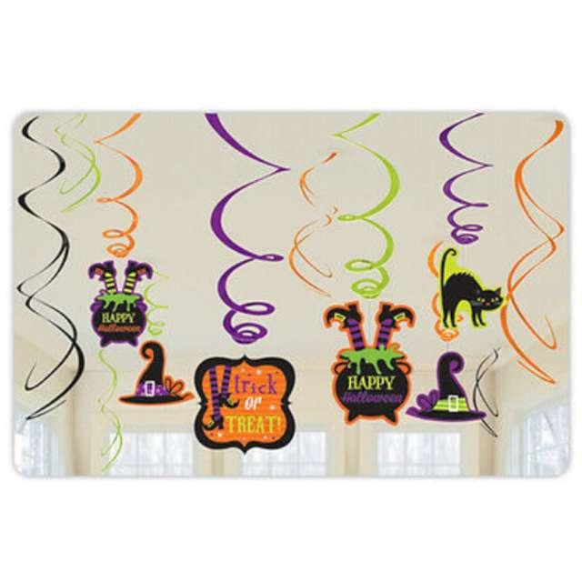 Dekoracja wisząca Świderki - Halloween mix Amscan 12 szt