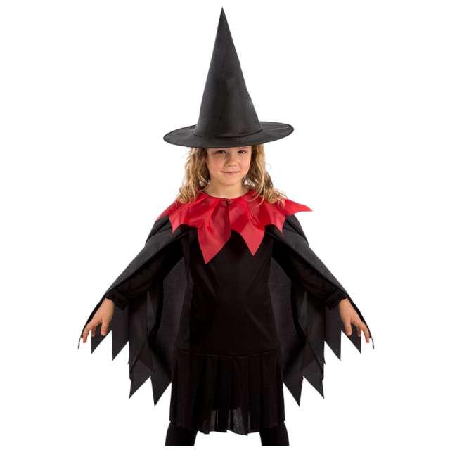 """Strój dla dzieci """"Peleryna czarownicy"""", czarny, Carnival Toys, rozm. 4-9 lat"""