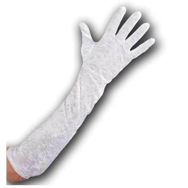 Rękawiczki Hollywood Long białe Carnoval Toys 50 cm
