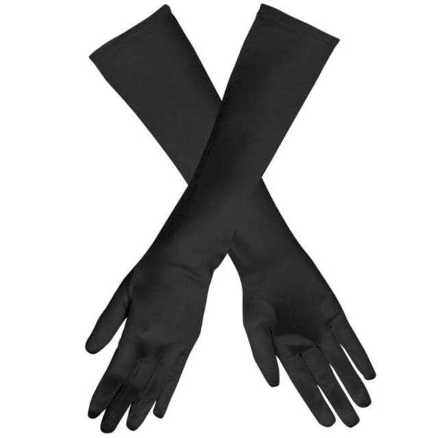 "Rękawiczki ""Hollywood Long"", czarne, Carnoval Toys, 50 cm"