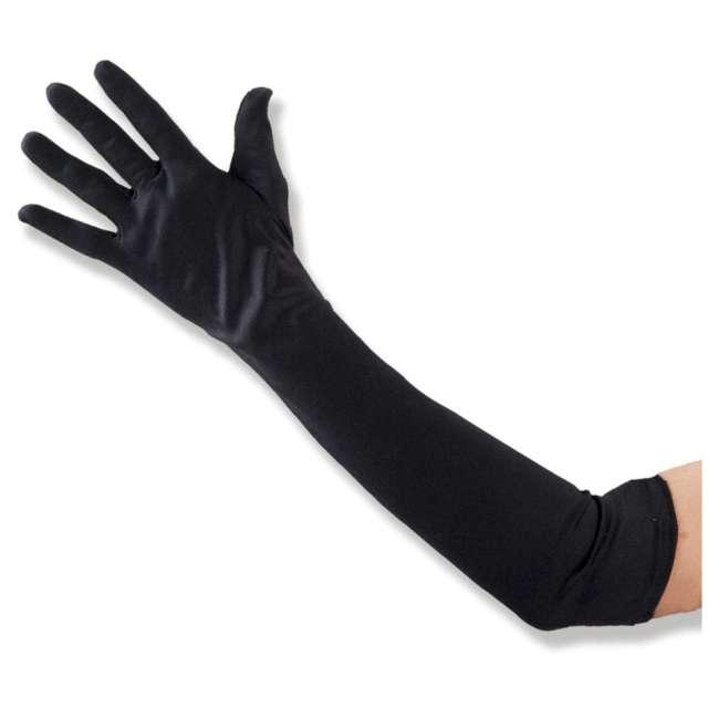 Rękawiczki Hollywood Long czarne Carnoval Toys 50 cm
