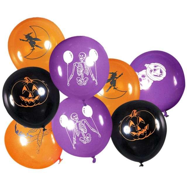 """Balony """"Halooween mix"""", Carnival Toys, 12"""" , 8 szt"""
