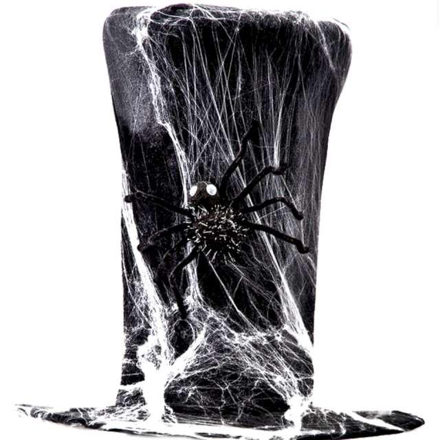 """Kapelusz """"Cylinder Wysoki - Pajęczyna i pająk"""", czarny, Carnival Toys, 40 cm"""