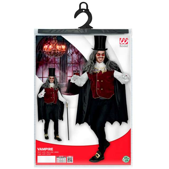 _xx_VAMPIRE (shirt with vest and jabot cape XL