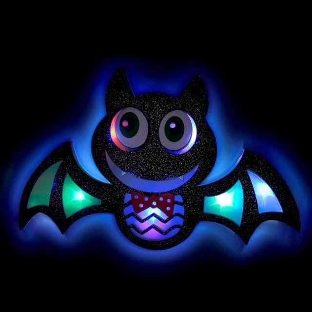 Dekoracja Świecący nietoperz wielokolorowy Widmann