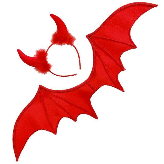 _xx_Pk 6 RED DEVIL dress-up set (wings horns)