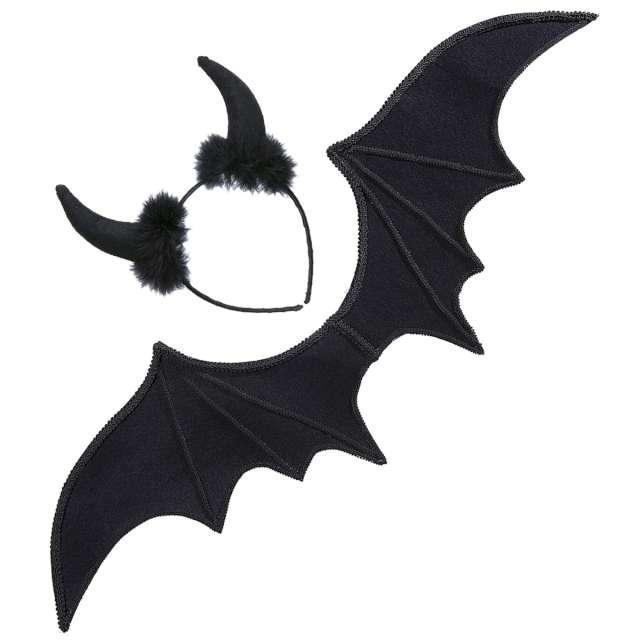_xx_Pk 6 BLACK DEVIL dress-up set (wings horns)