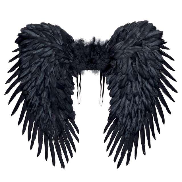 Skrzydła Upadły anioł czarne Widmann 80x65 cm