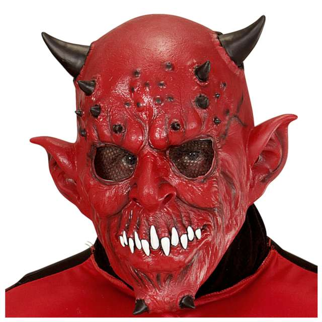Maska Diabeł Deluxe lateksowa Widmann