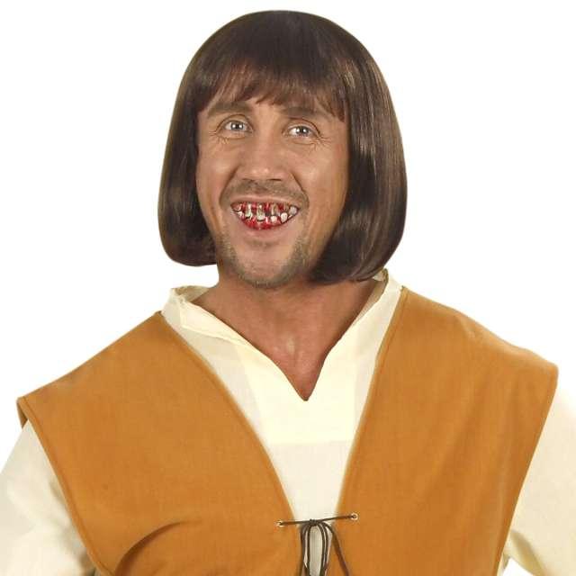 Sztuczne zęby Szczęka starca brązowe Widmann