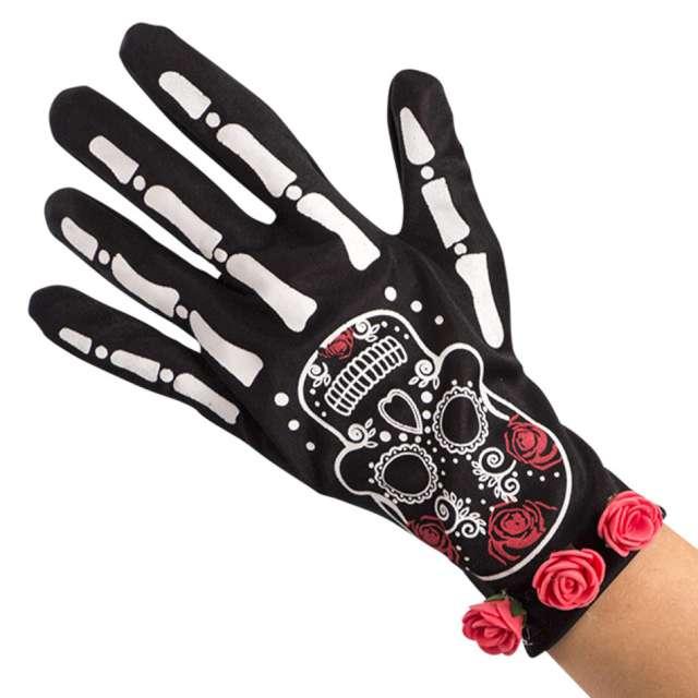 Rękawiczki Kości czarne Carnival Toys