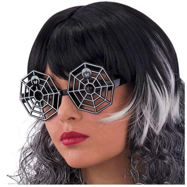"Okulary party ""Pajęczyna"", czarne, Carnival Toys"