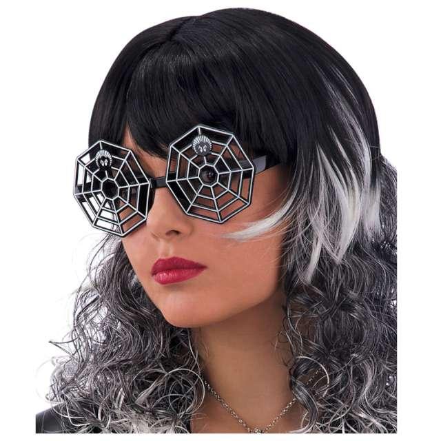 Okulary party Pajęczyna czarne Carnival Toys