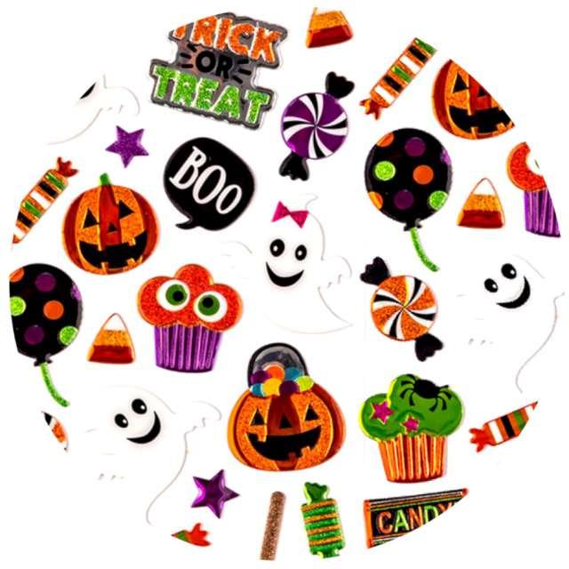 """Naklejki brokatowe """"Halloween - duszki i dynie"""", mix, Carnival Toys"""