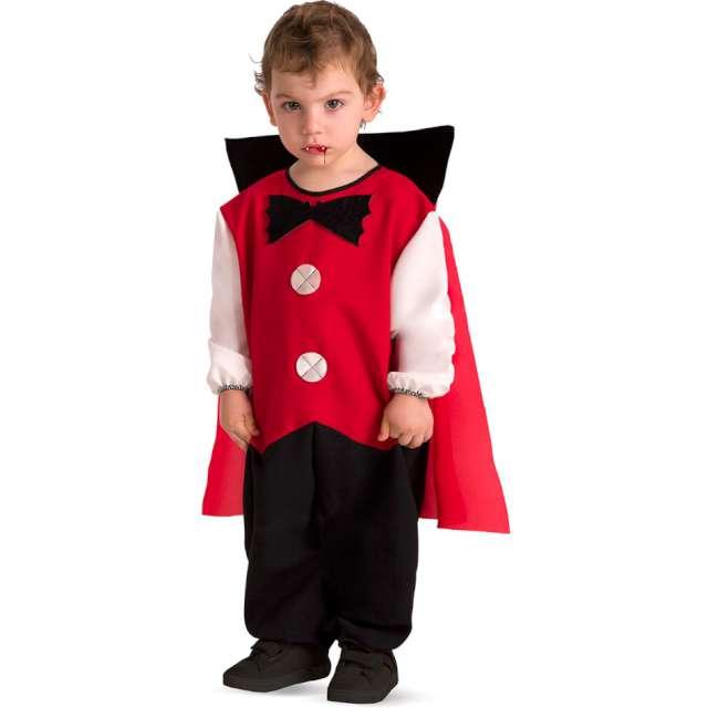 """Strój dla dzieci """"Wampir z peleryną"""", czerwony, Carnival Toys, 1-2 lata"""