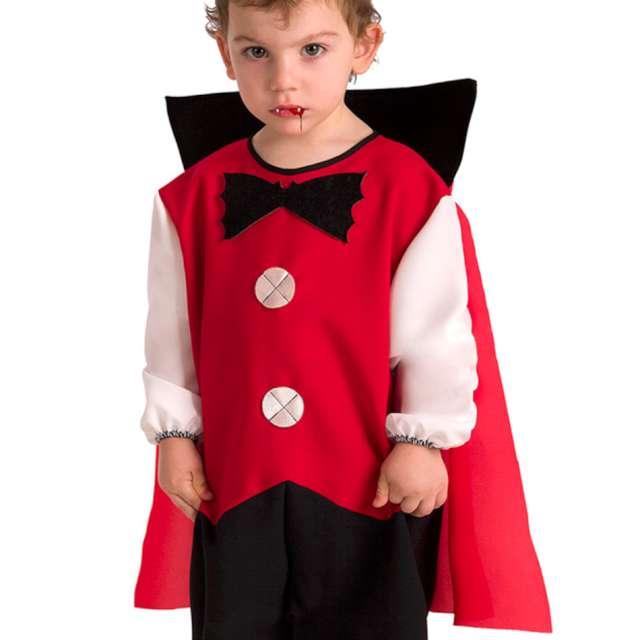 Strój dla dzieci Wampir z peleryną czerwony Carnival Toys 1-2 lata