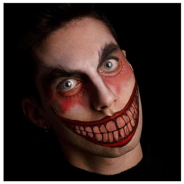 """Make-up party """"Tatuaż  zęby - klaun """", czerwony, Carnival Toys"""