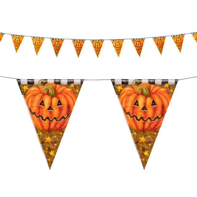 Girlanda Dynie halloween pomarańczowa Carnival Toys 300 cm