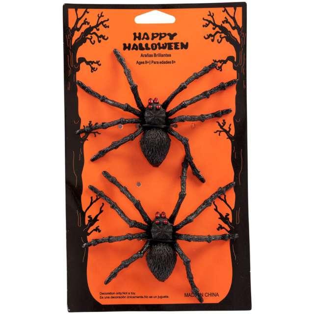 Dekoracja Para pająków czarna Carnival Toys 2 szt