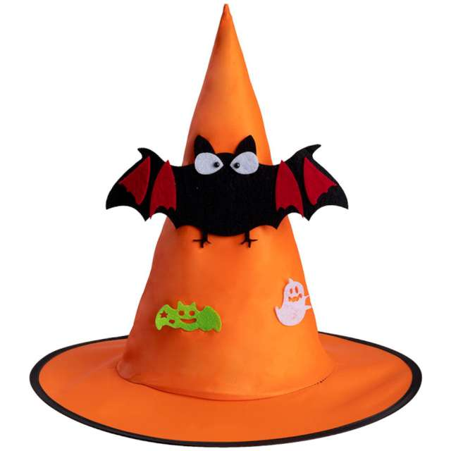 """Kapelusz """"Czarownica"""", pomarańczowy, Carnival Toys"""