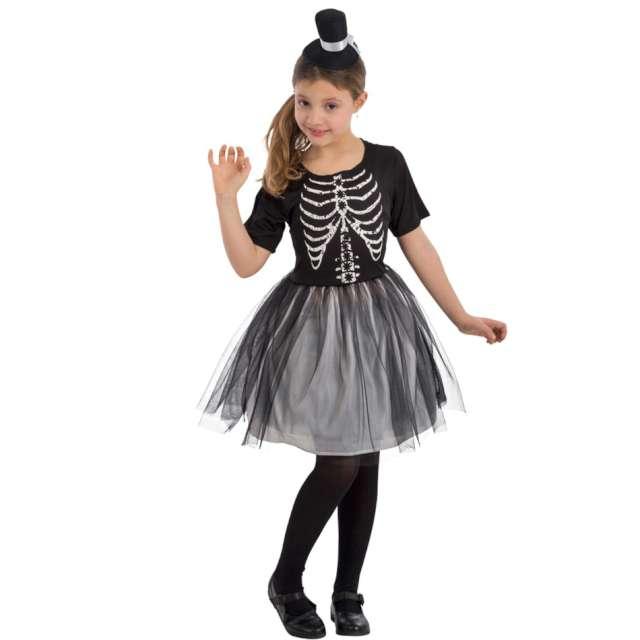 Strój dla dzieci Szkieletorka z kapeluszem czarny Carnival Toys 8-9 lat