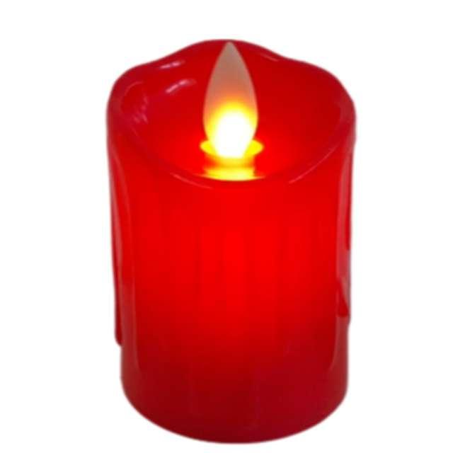 Świeca LED Classic czerwona 7&7 45 cm
