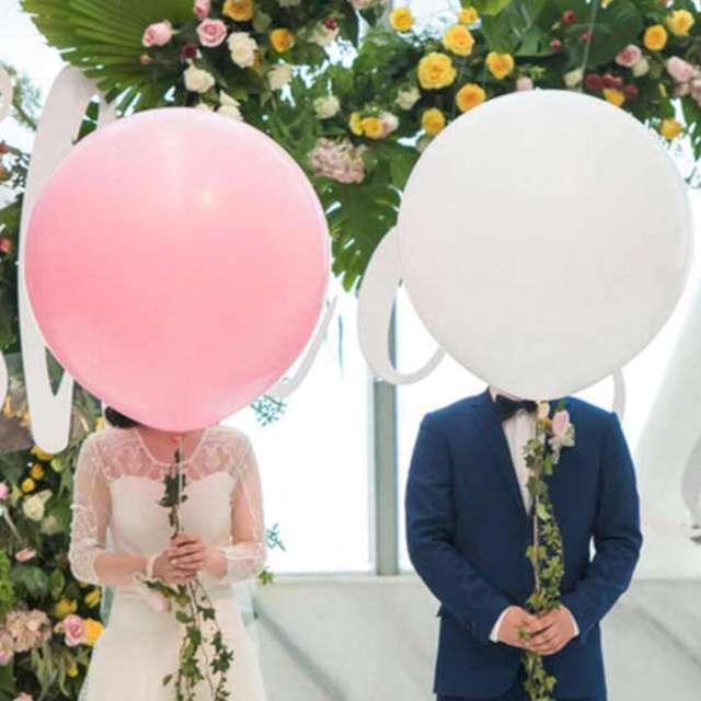Balon Okrągły Olbrzym biały 36 7&7