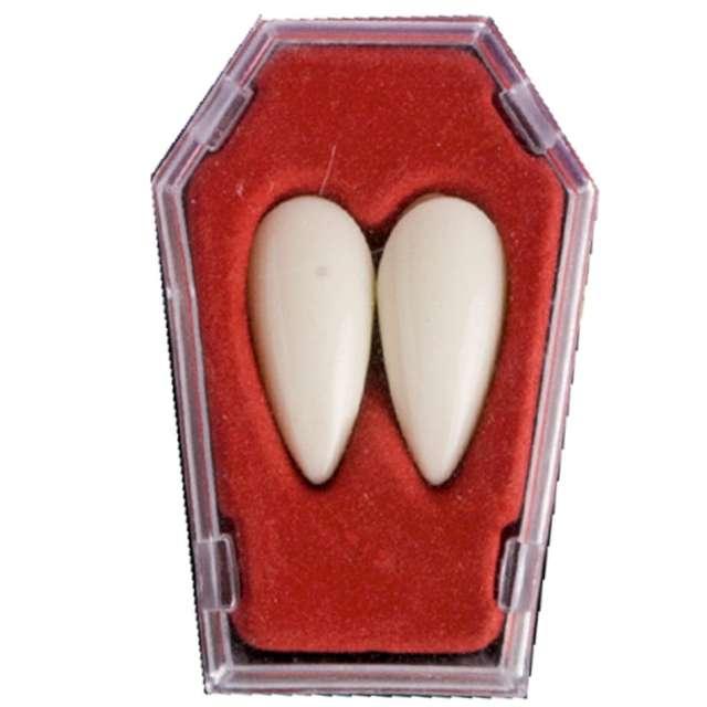 """Sztuczne zęby """"Kły drakuli"""", białe, Carnival Toys"""