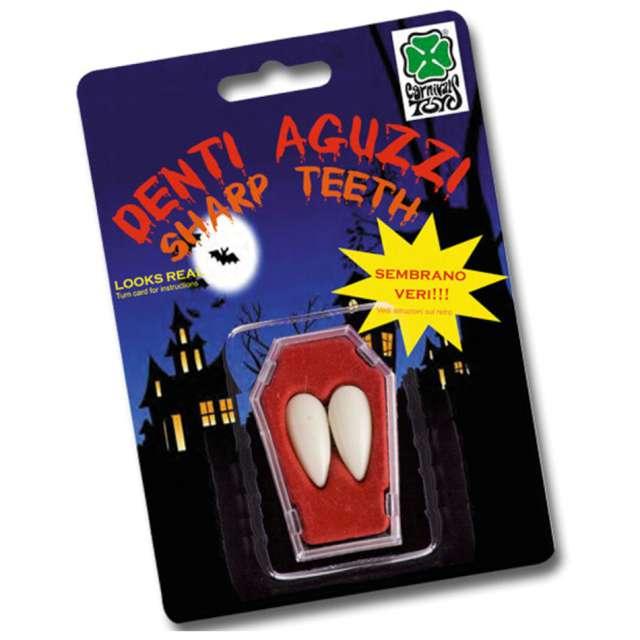 Sztuczne zęby Kły drakuli białe Carnival Toys