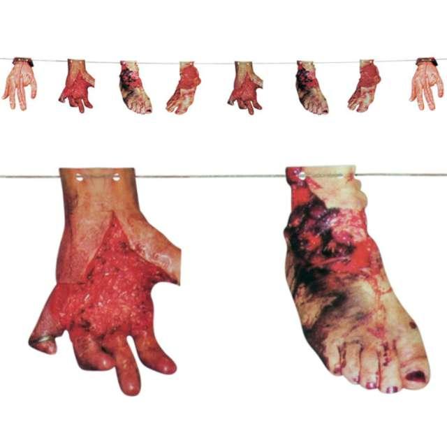 """Girlanda """"Ludzkie kończyny"""", mix, Carnival Toys, 290 cm"""