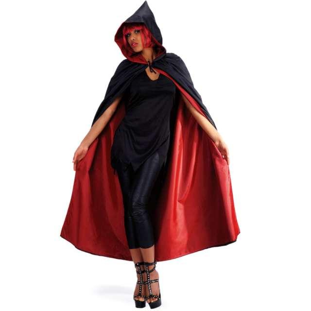 Strój dla dorosłych Peleryna z kapturem czarno-czerwona Carnival Toys