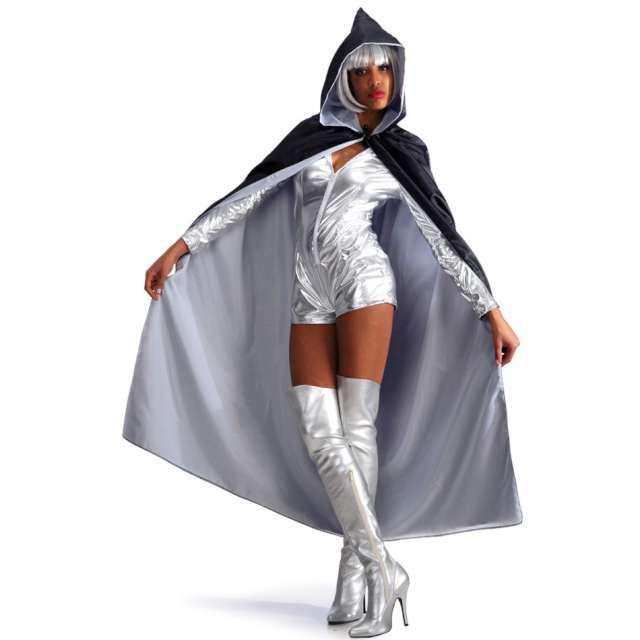 Strój dla dorosłych Peleryna z kapturem biało-czarna Carnival Toys