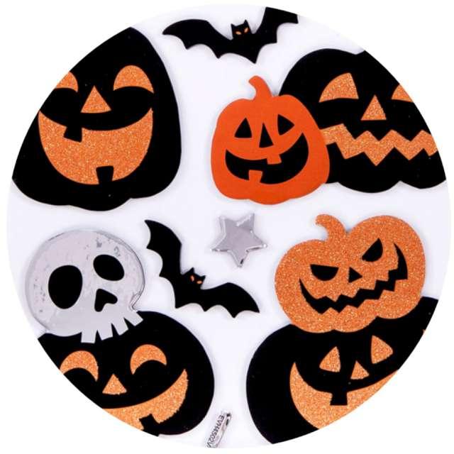 Naklejki metaliczne Halloween - dynie mix Carnival Toys