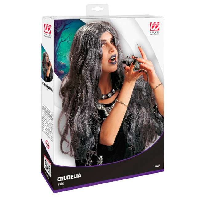 _xx_Pk 6 CRUDELIA WIG grey - in box