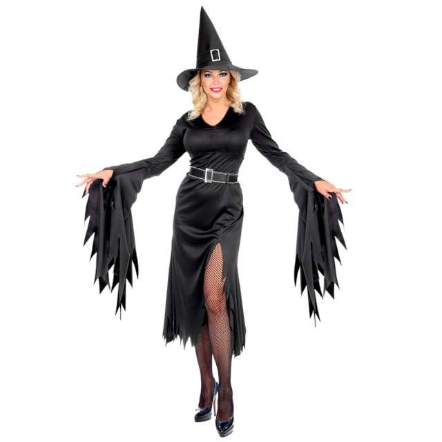 Strój dla dorosłych Czarownica z Halloween czarny Widmann rozm. XXL