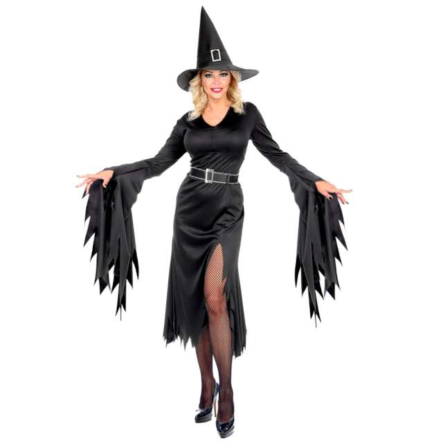Strój dla dorosłych Czarownica z Halloween czarny Widmann rozm. XL