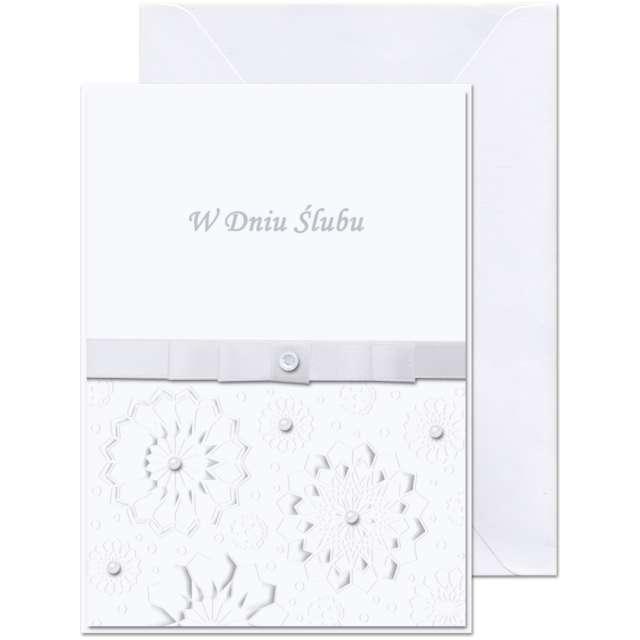 """Kartka okolicznościowa """"W dniu Ślubu - kwiaty"""", Paw, 12,5 X 17,6 cm"""