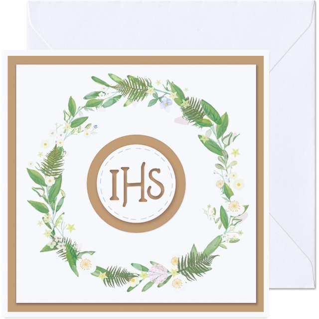 _xx_kartka IHS wianek z kwiatow 154 cm
