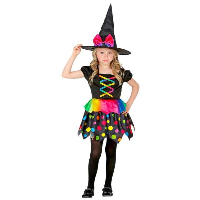 Strój dla dziecka Tęczowa czarownica mix Widmann 8-10 lat