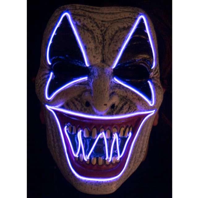 Maska Klaun Psychopata - LED niebieski Carnival Toys