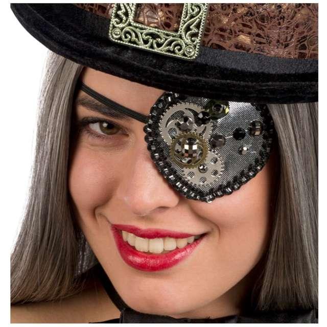 Opaska na oko Koła zębate czarna Carnival Toys