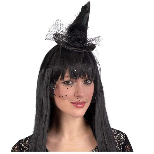 Opaska party Kapelusik z welonem czarna Carnival Toys