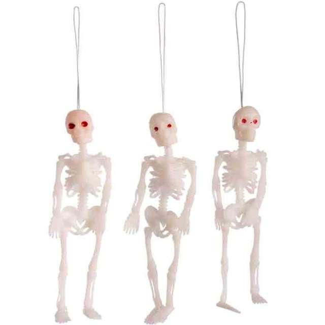 Dekoracja Trzy szkielety biała Carnival Toys 12 cm 3 szt